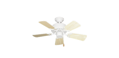 """42"""" Dixie Belle Pure White with 31"""" Bleached Oak Gloss Blades"""