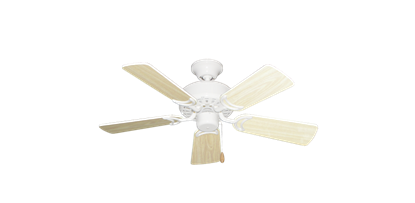 """42"""" Dixie Belle Pure White with 36"""" Bleached Oak Gloss Blades"""
