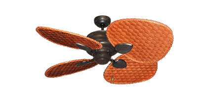 """Picture of Palm Breeze II Oil Rubbed Bronze with 48"""" Cherry Woven Bamboo Blades"""