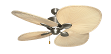 "Picture of Palm Breeze II Satin Steel with 54"" Natural Palm Blades"