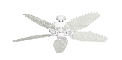 "Picture of Riviera Pure White with 52"" Outdoor Weave Pure White Blades"