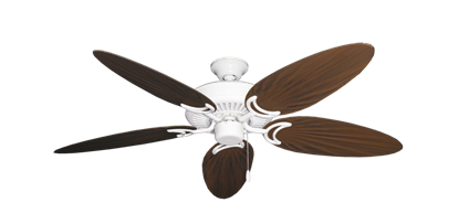 "Picture of Riviera Pure White with 52"" Outdoor Palm Oil Rubbed Bronze Blades"