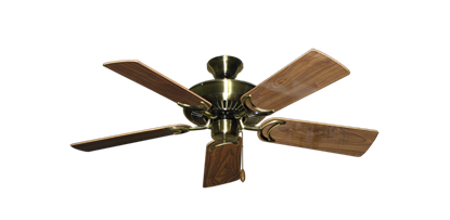 """Picture of Riviera Antique Brass with 44"""" Walnut Gloss Blades"""
