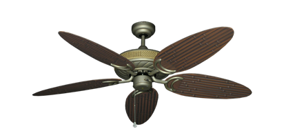 "Picture of Atlantis Antique Bronze with 52"" Outdoor Bamboo Oil Rubbed Bronze Blades"