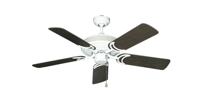 "Picture of Atlantis Pure White with 44"" Outdoor Oil Rubbed Bronze Blades"