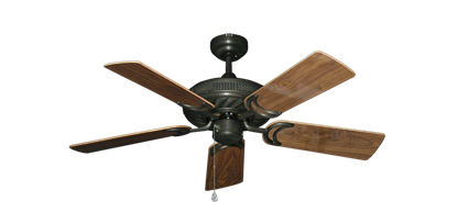 "Picture of Atlantis Oil Rubbed Bronze with 44"" Walnut Gloss Blades"
