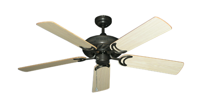 """Picture of Atlantis Oil Rubbed Bronze with 52"""" Bleached Oak Gloss Blades"""