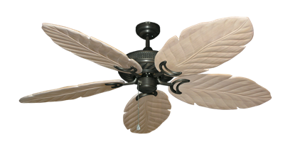 "Picture of Atlantis Oil Rubbed Bronze with 58"" Series 100 Arbor Whitewash Blades"