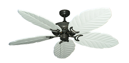 "Picture of Atlantis Oil Rubbed Bronze with 58"" Series 100 Arbor Pure White Blades"