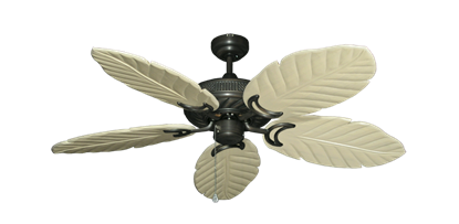 "Picture of Atlantis Oil Rubbed Bronze with 52"" Series 125 Arbor Whitewash Blades"