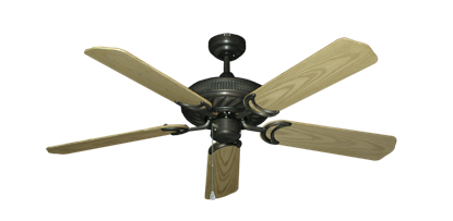 """Picture of Atlantis Oil Rubbed Bronze with 52"""" Outdoor Bleached Oak Blades"""