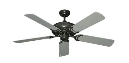 """Picture of Atlantis Oil Rubbed Bronze with 52"""" Outdoor Brushed Nickel Blades"""