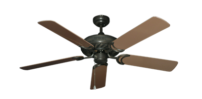 """Picture of Atlantis Oil Rubbed Bronze with 52"""" Outdoor Brown Blades"""