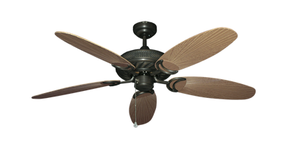 """Picture of Atlantis Oil Rubbed Bronze with 52"""" Outdoor Leaf Tan Blades"""