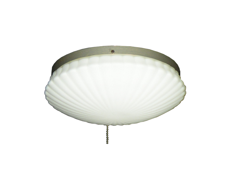 Picture of 169 Low Profile Light Fixture with Oval Pleated Scavo Glass