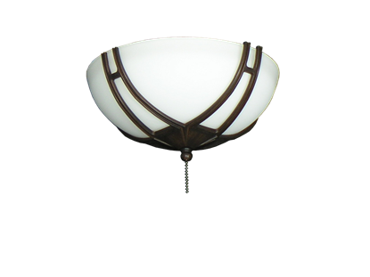 174 Bracketed Oil Rubbed Bronze Glass Bowl Light