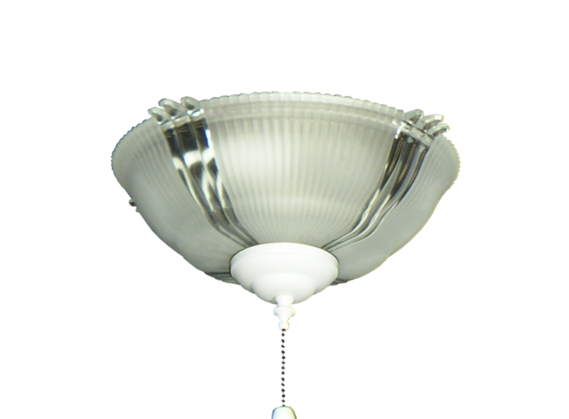 Picture of 180 Ribbed Glass Bowl Light