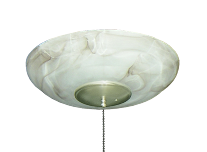 171 Large Bowl Light in Mocha Glass