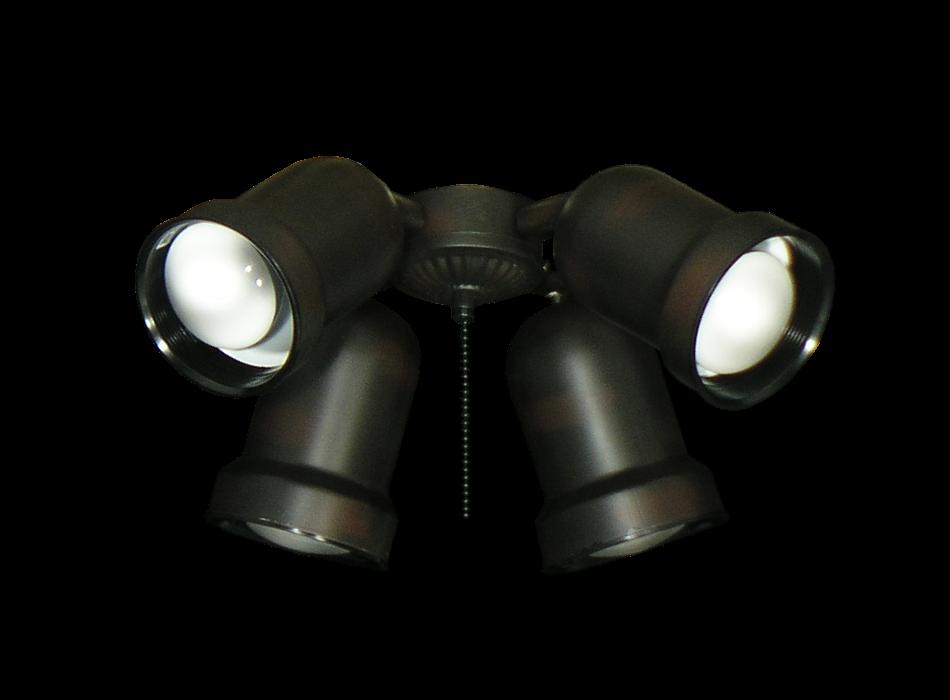 4 Light Outdoor Ceiling Fan Spotlight Kit 463 Dan S Fan City C Ceiling Fans Fan Parts Accessories