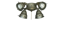 45 4-Light Adjustable Fitter (Glass Sold Separately)