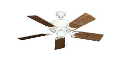 "Picture of Raindance Pure White with 44"" Walnut Gloss Blades"