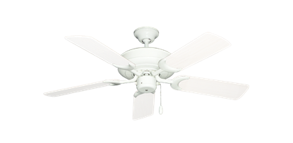 "Picture of Raindance Pure White with 44"" Outdoor Pure White Blades"