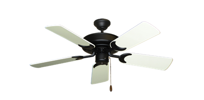 """Picture of Raindance Matte Black with 44"""" Antique White Gloss Blades"""