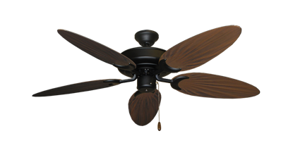 "Picture of Raindance Matte Black with 52"" Outdoor Palm Oil Rubbed Bronze Blades"