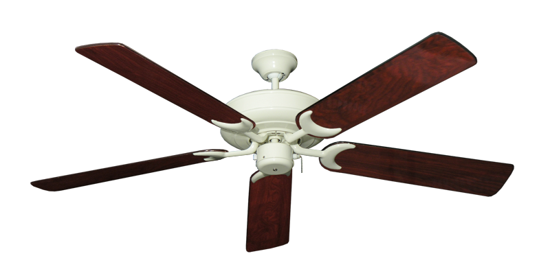 """Picture of Raindance Antique White with 56"""" Cherrywood Gloss Blades"""