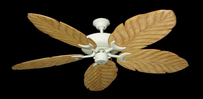"""Raindance Antique White with 58"""" Series 100 Arbor Maple Blades"""