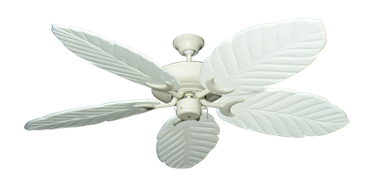 "Raindance Antique White with 58"" Series 100 Arbor Pure White Blades"