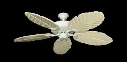 "Raindance Antique White with 52"" Series 125 Arbor Whitewash Blades"