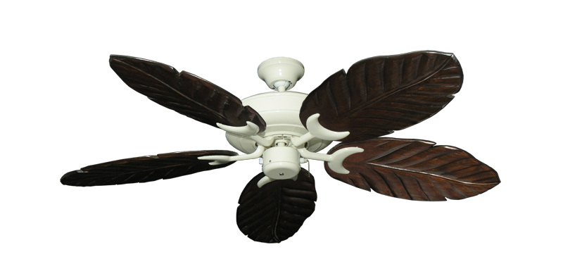 "Picture of Raindance Antique White with 52"" Series 125 Arbor Dark Walnut Blades"