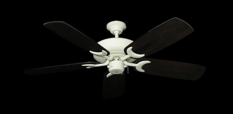 "Picture of Raindance Antique White with 52"" Series 425 Arbor Dark Walnut Blades"