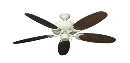 """Raindance Antique White with 52"""" Outdoor Leaf Oil Rubbed Bronze Blades"""