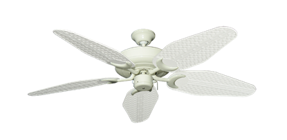 """Raindance Antique White with 52"""" Outdoor Weave Pure White Blades"""
