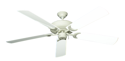 """Picture of Raindance Antique White with 60"""" Outdoor Pure White Blades"""
