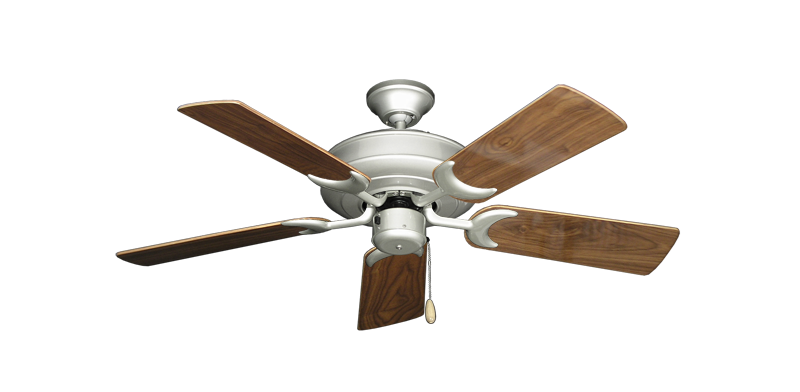 "Picture of Raindance Brushed Nickel with 44"" Walnut Gloss Blades"