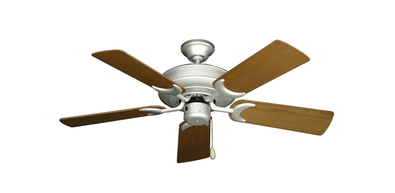"""Picture of Raindance Brushed Nickel with 44"""" Light Oak Blades"""