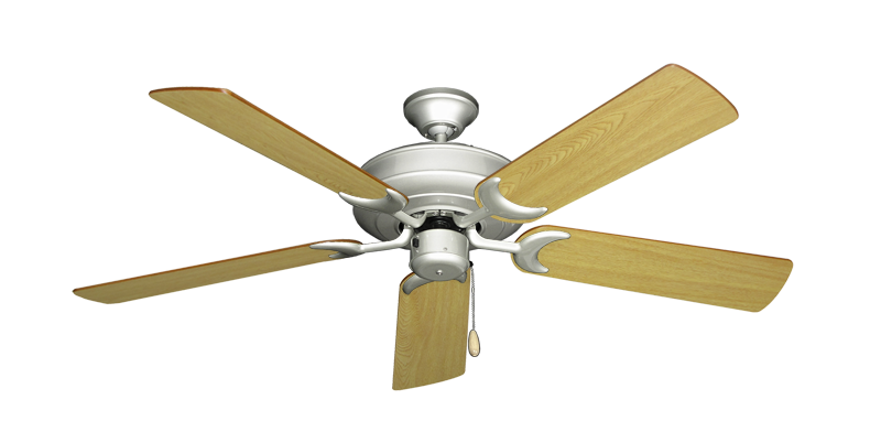 """Picture of Raindance Brushed Nickel with 52"""" Honey Oak Blades"""