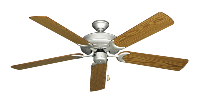 "Picture of Raindance Brushed Nickel with 56"" Oak Blades"