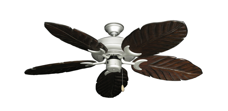 "Picture of Raindance Brushed Nickel with 52"" Series 125 Arbor Dark Walnut Blades"