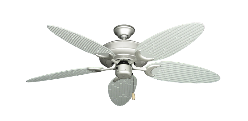 """Picture of Raindance Brushed Nickel with 52"""" Outdoor Bamboo Pure White Blades"""
