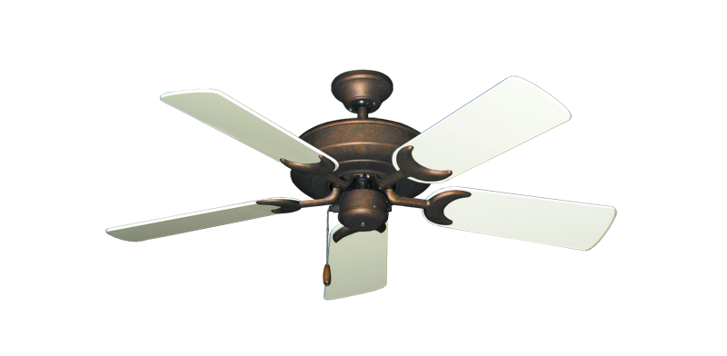 """Picture of Raindance Burnished Copper with 44"""" Antique White Gloss Blades"""
