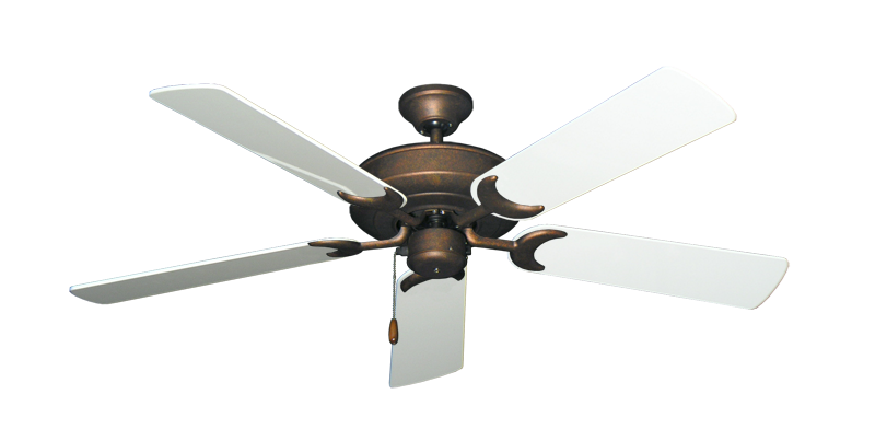 "Picture of Raindance Burnished Copper with 52"" Pure White Gloss Blades"