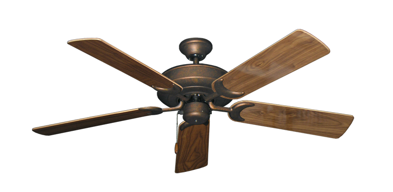 """Picture of Raindance Burnished Copper with 52"""" Walnut Gloss Blades"""