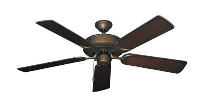 "Picture of Raindance Burnished Copper with 52"" Distressed Cherry Blades"