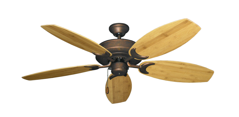 """Picture of Raindance Burnished Copper with 52"""" Oar Bamboo Brown Blades"""