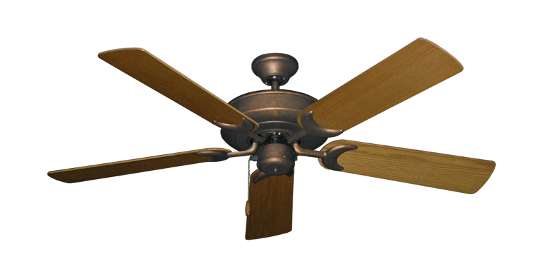"""Picture of Raindance Burnished Copper with 52"""" Light Oak Blades"""