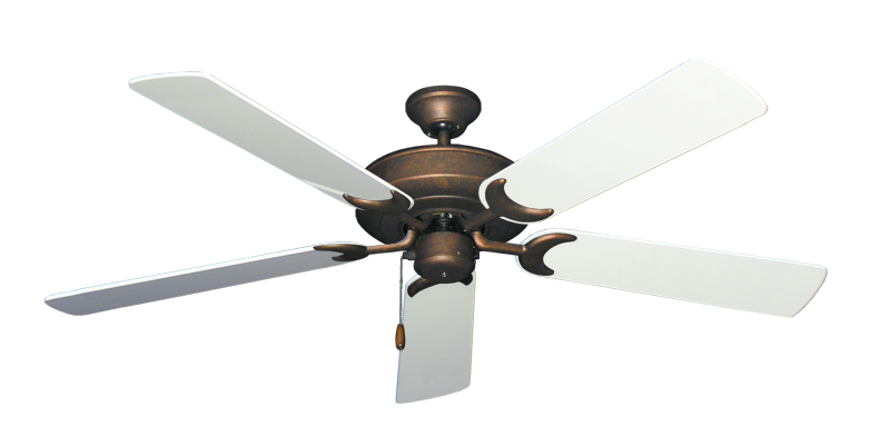 """Picture of Raindance Burnished Copper with 56"""" Pure White Gloss Blades"""